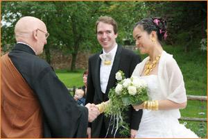 christlich-buddhistische Trauungszeremonie (2007)